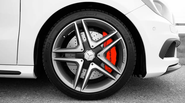 Close up of car rims