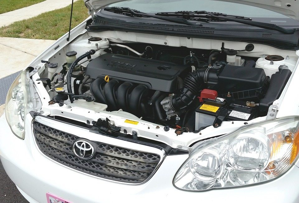 Under-hood-of-toyota-car