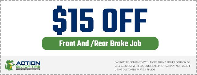 $15 off Front/Rear Brake Job Coupon