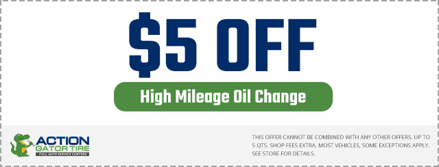 $5 off High Mileage Oil Change Coupon
