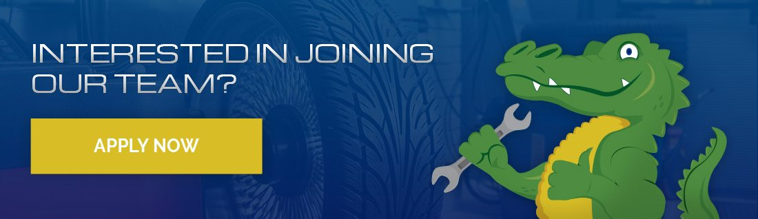 Action Gator Tires Career Application Banner