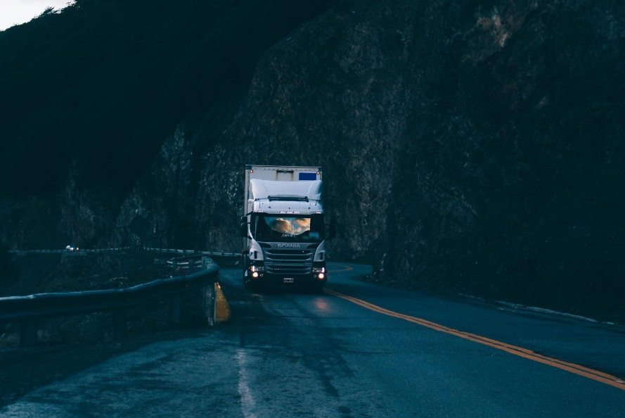 Truck-on-cliff