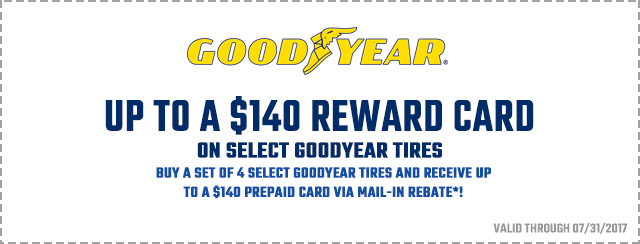 GoodYear up to $140 Back Coupon